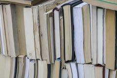 Bücher als Hintergrund Stockbild