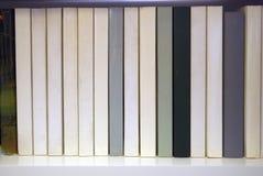 Bücher auf dem Bücherschrank Lizenzfreies Stockfoto