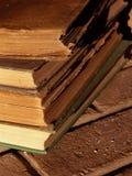 Bücher auf dem Herd lizenzfreies stockfoto