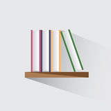Bücher auf dem Regal Stockfoto