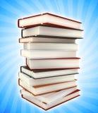 Bücher auf farbigem Hintergrund Stockfotografie