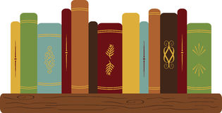 Bücher auf Regal Lizenzfreie Stockfotos