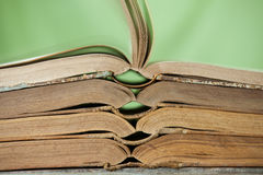 Bücher auf Regalen Stockbild