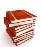 Bücher auf Weiß Stockbild
