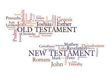 Bücher der Bibel Stockbild