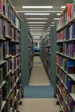 Bücher in der Bibliothek lizenzfreie stockbilder