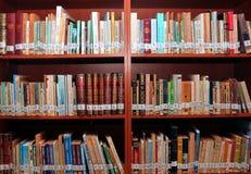 Bücher in der Bibliothek Lizenzfreies Stockfoto