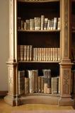 Bücher in einer Midieval Bibliothek Lizenzfreies Stockfoto