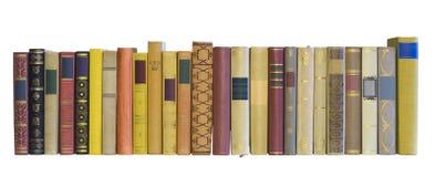 Bücher in einer Reihe Stockbild