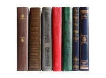 Bücher in einer Reihe Stockfoto