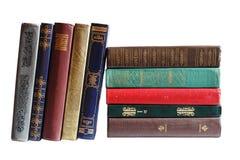 Bücher in einer Reihe Lizenzfreie Stockfotografie