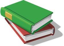 Bücher gestapelt Lizenzfreie Stockbilder