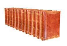 Bücher getrennt auf Weiß Lizenzfreies Stockfoto