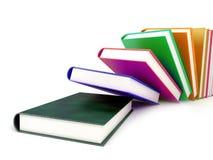 Bücher getrennt auf Weiß Stockfotografie
