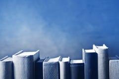 Bücher im Bücherregal stockfoto