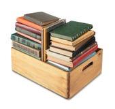 Bücher im Kasten Lizenzfreie Stockbilder