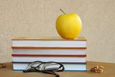 Bücher - ist Lebensmittel für Gehirn Lizenzfreies Stockbild
