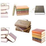 Bücher mit Gläsern Lizenzfreies Stockbild