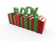 Bücher mit Wort des Buches  Stockbild