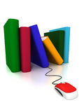 Bücher online Stockfoto