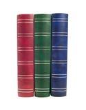 Bücher. Rot der alten Art drei, grün-blaues getrennt Lizenzfreies Stockbild