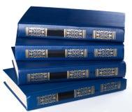 Bücher. Stapel alte Bücher auf weißem Hintergrund Lizenzfreies Stockfoto