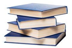 Bücher. Stapel alte Bücher auf weißem Hintergrund Stockbilder