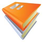 Bücher stapelten geschlossenes Illustrationsikone clipart Lizenzfreies Stockfoto