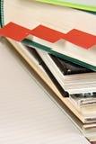 Bücher und Bookmarks Stockbild