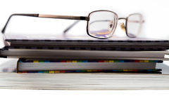 Bücher und Brillen Lizenzfreie Stockfotografie