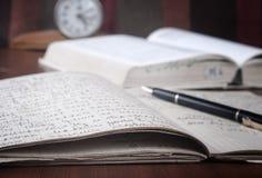 Bücher und Datenträger Stockfoto