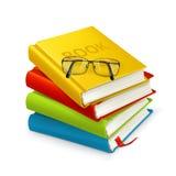 Bücher und Gläser lizenzfreie abbildung