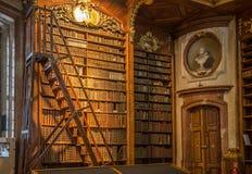 Bücher in Wien-Landesbibliothek Stockfoto