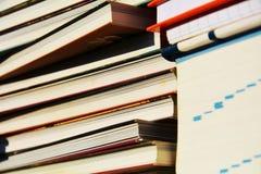 Bücher, Wissenskonzept, Abschluss oben Stockfoto
