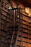 Bücherregal in der Bibliothek lizenzfreie stockfotos