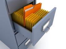 Bücherregal für Dokumente Lizenzfreie Stockfotos