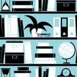 Bücherregal-Hintergrund Stockfotografie