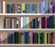 bucherregal mit vielen buchern lizenzfreie abbildung