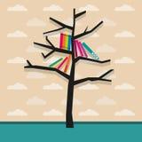 Bücherregal-Vektorillustration Stockfotos
