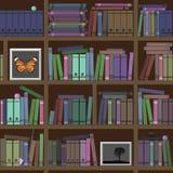 bücherregale Viele interessanten Bücher Stockfotos