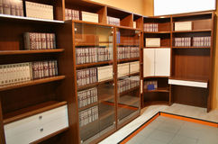 Bücherschrank stockbilder