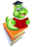Bücherwurm-Bildungs-Konzept Stockbild