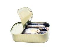 In Büchsen konservierte Sardinen Lizenzfreies Stockfoto