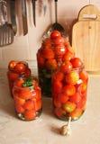 In Büchsen konservierte Tomaten lizenzfreie stockfotos