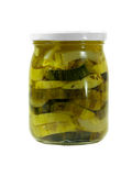 In Büchsen konservierte Zucchini Lizenzfreie Stockfotografie