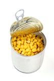 In Büchsen konservierter Mais Lizenzfreie Stockfotos
