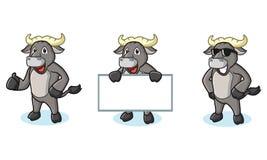Büffel Gray Mascot glücklich Stockbilder
