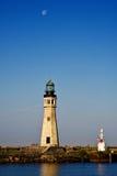 Büffel-Hauptleuchtturm auf See Erie Stockbild