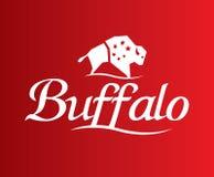 Büffel Logo Design Lizenzfreie Stockbilder
