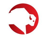 Büffel Logo Design Lizenzfreie Stockfotografie